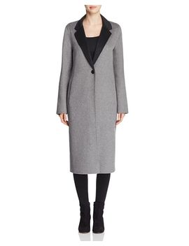 Double Faced Longline Coat by Calvin Klein