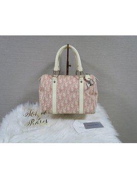 Christian Dior Pink Trotter Logo Print Boston Bag Handbag by Etsy