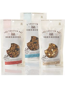 The Toasted Oat Bakehouse Gluten Free Soft Granola Trio Trial Pack, 3 Count by The Toasted Oat