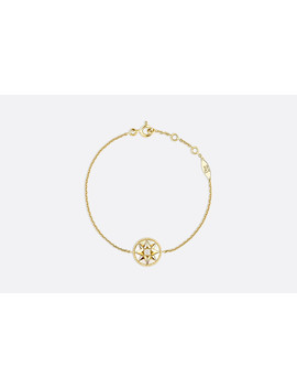 Rose Des Vents Bracelet, 18k Yellow Gold, Diamond And Mother Of Pearl by Dior