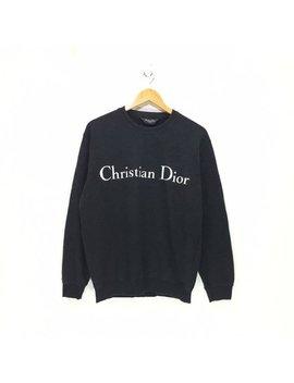 Vintage Christian Dior Monsieur Big Logo Spellout Sweatshirt Crewneck Sweatshirt Jumper Black Colour by Etsy