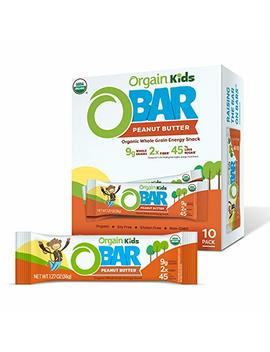 Orgain Organic Kids Energy Bar, Peanut Butter, Vegan, Gluten Free, Soy Free, 6g Fiber, Non Gmo, 1.27 Ounce, 10 Count by Orgain