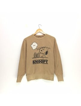 Vintage Peanuts Snoopy Brown Colour Sweatshirt Big Design Fullprint Cartoon Snoopy by Etsy