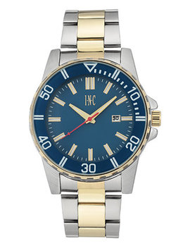 I.N.C. Men's Two Tone Bracelet Watch 44mm, Created For Macy's by Inc International Concepts