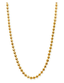 """Beaded 16"""" Chain Necklace In 14k Gold by Alex Woo"""