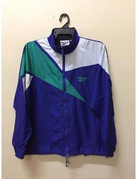 Vintage Reebok Windbreaker Embroidery Logo Tracksuit Multicolor Zipper Jacket Unisex Size Kappa by Etsy