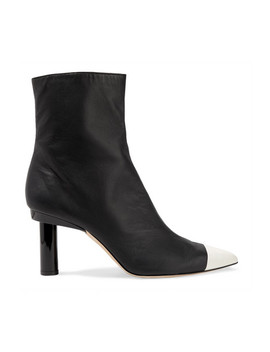 Grant Two Tone Leather Ankle Boots by Tibi