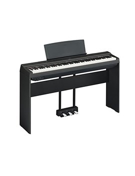 Yamaha P125 Digital Piano Deluxe Bundle With Furniture Stand And 3 Pedal Unit, Black by Yamaha
