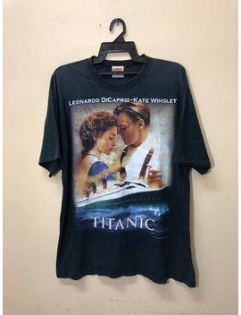 Rare Vintage Titanic Leonardo Dicaprio And Kate Winslet Movie Film Box Office T Shirt Akira Anime Gothic Loving by Etsy