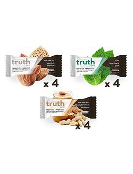 Truth Bar (Prebiotic + Probiotic)   Protein Pack (12 Bars)   Low Sugar, Diet Support,Gluten Free, 10g Of Protein, High Fiber, Non Gmo, Soy Free,... by Truth Bar