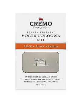 Cremo Solid Cologne That Fits In Your Pocket So You Can Apply Discreetly   Spice & Black Vanilla.45 Ounce Tin by Cremo