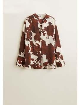 Блузка с коровьим принтом by Mango