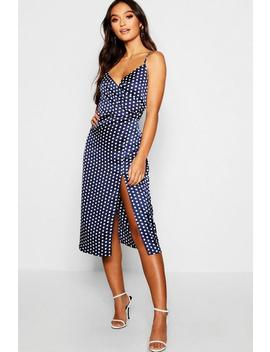 Petite Polka Dot Midi Dress by Boohoo