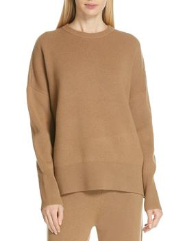 Relaxed Drop Shoulder Wool & Cashmere Sweater by Theory