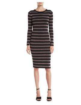 Metallic Striped Midi Dress by Michael Michael Kors