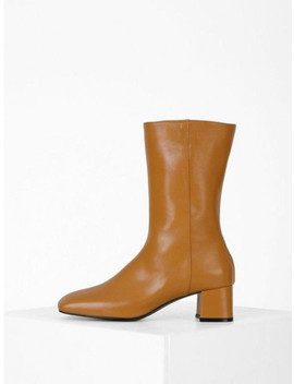 Square Middle Ankle Boots Camel by Menodemosso