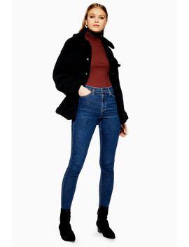 Indigo Raw Hem Jamie Jeans by Topshop