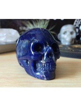 Sodalite Crystal Skull Carving   Crystal Skull   Hand Carved Crystal Skull   Crystal Skull   Crystal Healing   Sd1 by Etsy