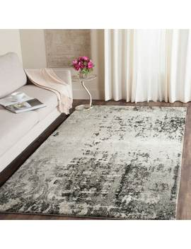 Safavieh Retro Modern Abstract Light Grey/ Grey Distressed Rug by Safavieh