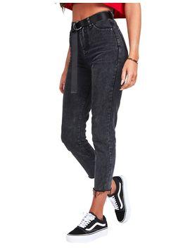 Sik Silk Acid Wash Mom Jeans by Sik Silk