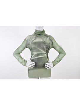 Jean Paul Gaultier 1990 Nude T Shirt Cardigan Photoprint Pearls Secretary Trompe L'oil by Etsy