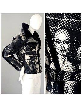 Vintage Jean Paul Gaultier Fight Racism Graffiti Jacket by Etsy