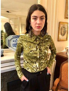 1990s Jean Paul Gaultier Chinese Kids Propaganda Print Shirt, Army Green, Long Sleeves / Medium by Etsy