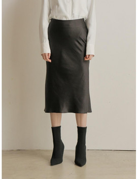 Satin Skirt Black by Paul &Amp; Alice