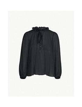 Ruffled Collar Chiffon Shirt by Claudie Pierlot