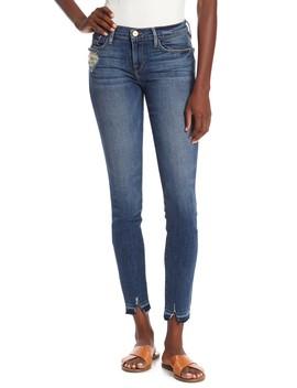 Le Skinny De Jeanne Raw Hem Denim Jeans by Frame Denim