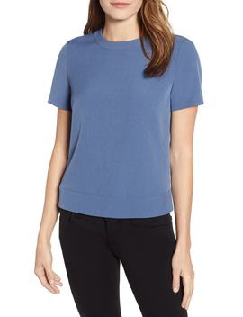 Button Back Crepe Top by Anne Klein