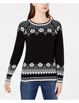 Cotton Fair Isle Sweater, Created For Macy's by Tommy Hilfiger
