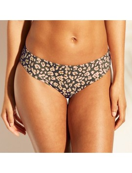 Women's Beach Hipster Bikini Bottom   Shade & Shore™ Gray Leopard by Shade & Shore