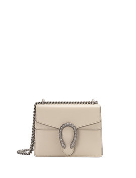 Dionysus Mini Leather Shoulder Bag With Crystal Tiger Spur by Gucci