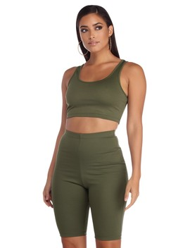 Final Sale  Feelin' Trendy Crop Top by Windsor