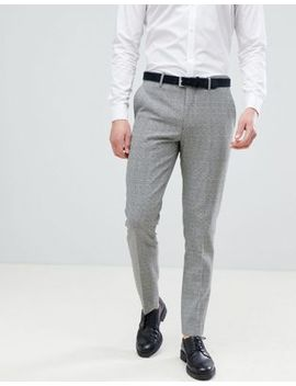 River Island Slim Smart Pants In Black Check by River Island