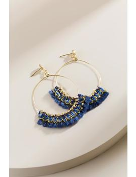 Eva Tasseled Circle Drop Earrings by Francesca's
