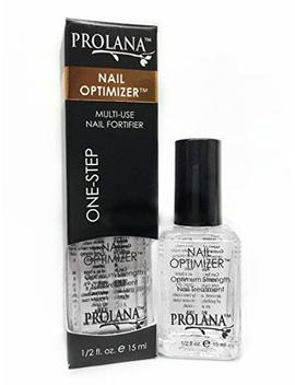 Prolana Nail Optimizer One Step Multi Use Nail Fortifier, Nail Hardener, Nail Strengthener   Optium Strength Nail Treatment .5 Ounces/ 15 Milliliters by Prolana