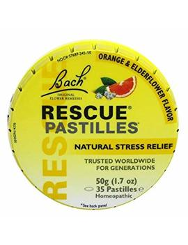 Bach Rescue Remedy Natural Stress Relief Pastilles Original Flavor 1.7 Oz (Packaging May Vary) by Bach