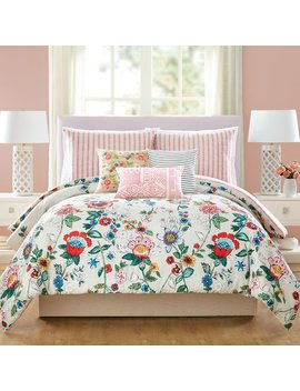 Vera Bradley Coral Floral Cotton Reversible Comforter Set & Reviews by Vera Bradley