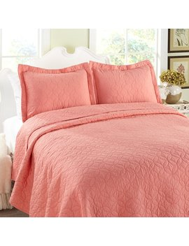 Laura Ashley Solid 100 Percents Cotton Reversible Quilt Set By Laura Ashley Home & Reviews by Laura Ashley