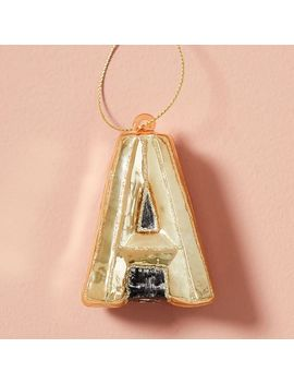 Mercury Glass Letter Ornament, A by West Elm