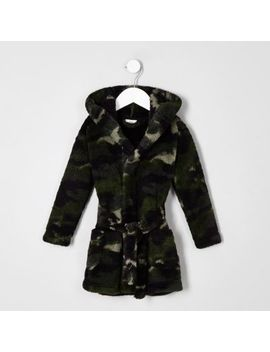 Mini Boys Navy Camo Dressing Gown by River Island