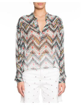 Emana Printed Button Front Sheer Top by Etoile Isabel Marant