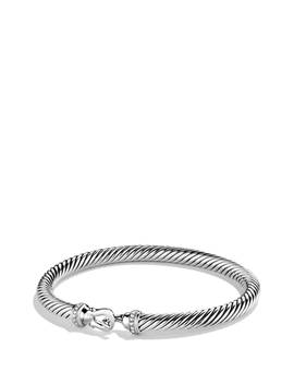 Cable Buckle Bracelet With Diamonds, 5mm by David Yurman
