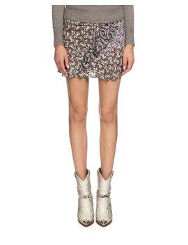 Loz Printed Ruffle Short Skirt by Etoile Isabel Marant