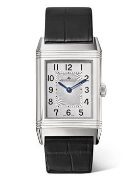Reverso Classic Medium Thin 24.4mm Stainless Steel And Alligator Watch by Jaeger Le Coultre