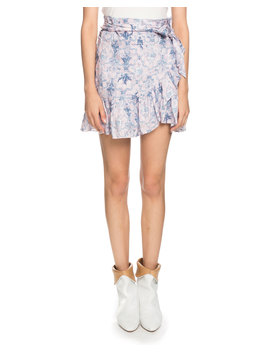 Tempster Printed Linen Wrap Skirt by Etoile Isabel Marant