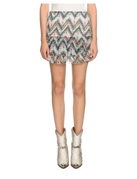 Brinley Smocked Silk Printed Short Skirt by Etoile Isabel Marant