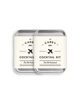 W&P Mas Carry Kit 2 Carry On Cocktail Kit, Old Fashioned, Travel Kit For Drinks On The Go, Craft Cocktails, Tsa Approved, Pack Of 2 by W&P